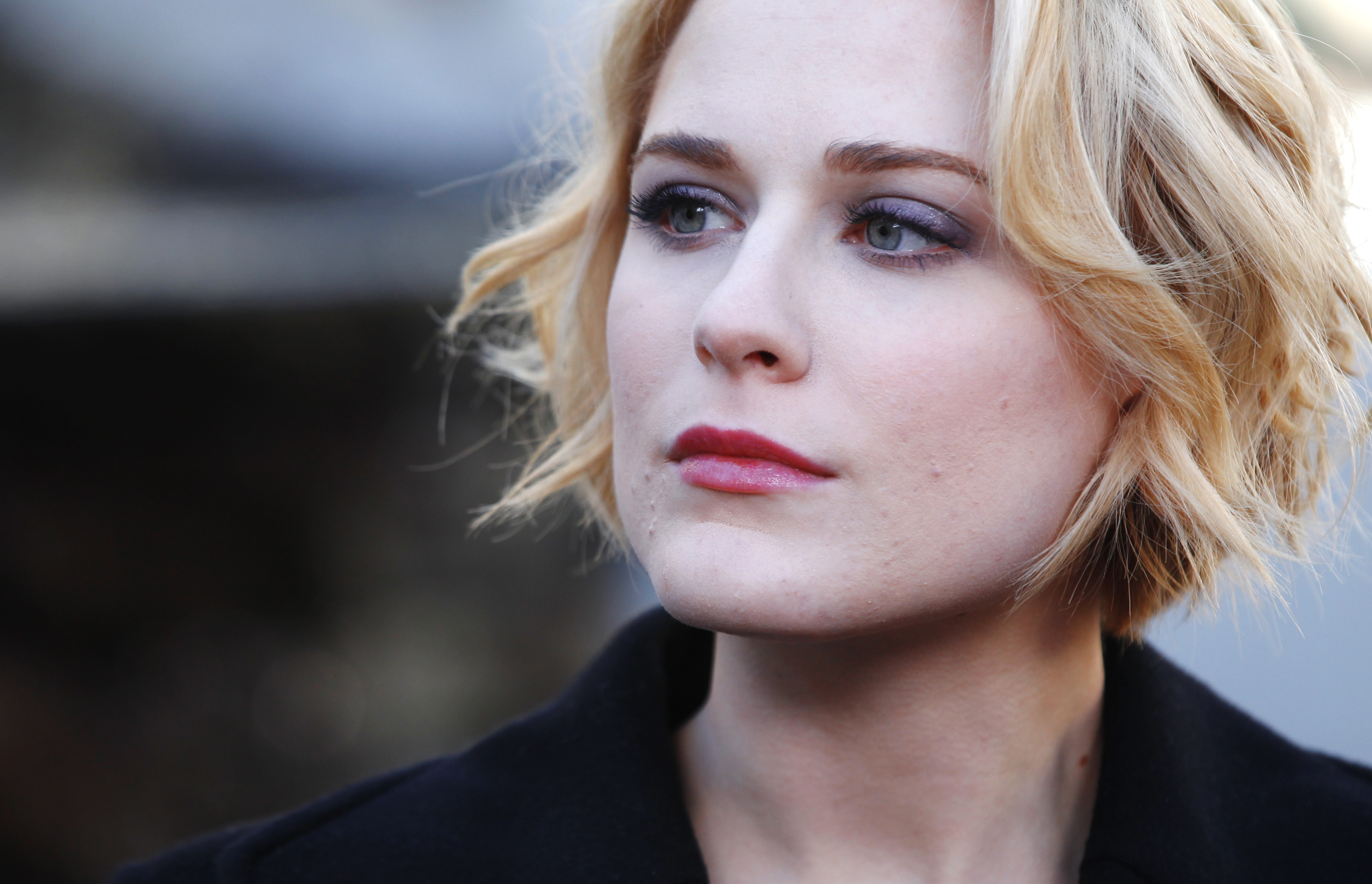 "Actress Evan Rachel Wood from the movie ""The Necessary Death of Charlie Countryman"" looks on during the Sundance Film Festival in Park City, Utah January 22, 2013. REUTERS/Mario Anzuoni (UNITED STATES - Tags: ENTERTAINMENT) - RTR3CTFG"